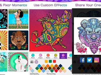 Disney lanza una app de colorear... para adultos