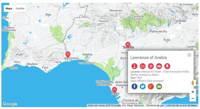 Mapa Cine Localizaciones