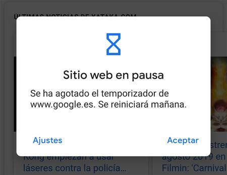 Bienestar digital: así es como podrás añadir temporizadores de sitios web con Chrome para Android Q
