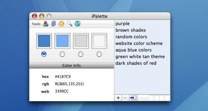 iPalette, accede a los valores RGB y Hex de cualquier color a elegir