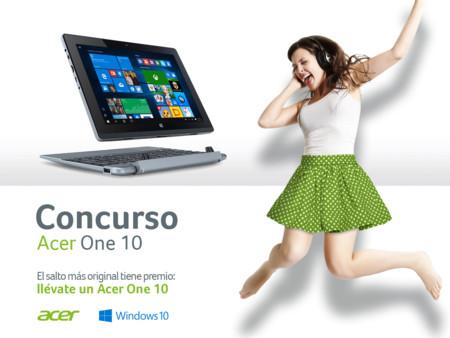 El salto más original tiene premio: participa y gana un Acer One 10