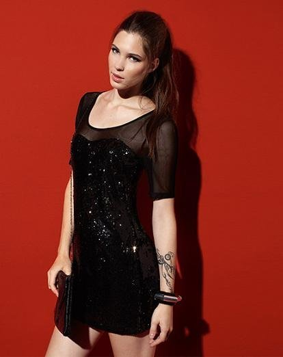 vestidos nochevieja: bershka lentejuelas