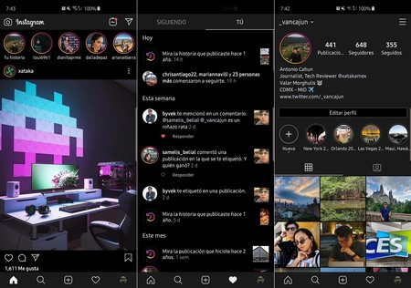 Instagram Android Modo Oscuro Mexico
