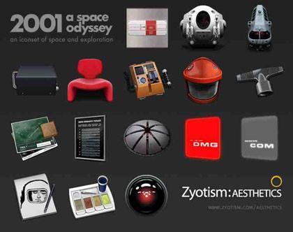 """Iconos de """"2001, una odisea en el espacio"""" para Mac"""