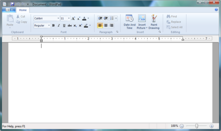 Wordpad con Ribbon