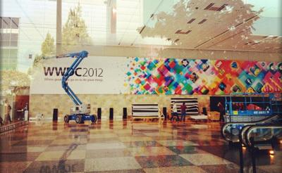 Primeras imágenes del Moscone Center con los carteles de la WWDC 2012