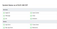 Apple lanza una página del estado de sus servicios.