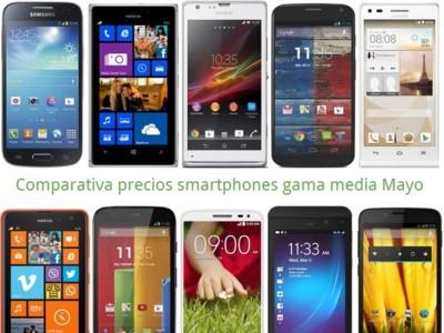 Comparativa precios Huawei G6, Lumia 925, Moto X, LG G2 mini, Galaxy S4 mini, Moto G, Lumia 625 y otros gama media en mayo