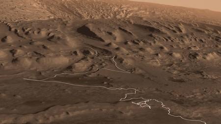 ¿Cómo sería volar sobre el Monte Sharp de Marte? Este vídeo te permite verlo