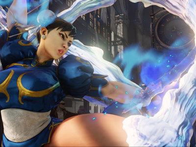 La pantalla se llena de mamporros, llaves y volteretas con el opening completo de Street Fighter V