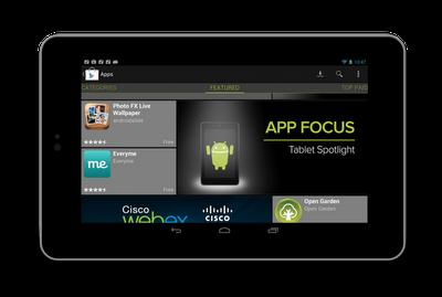 Nexus 7 app focus