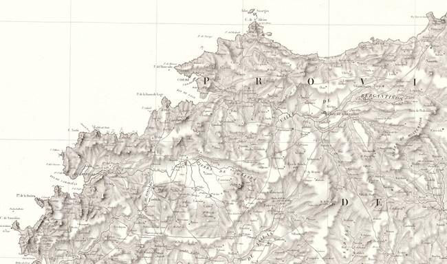 La hazaña de Domingo Fontán: un mapa de Galicia del siglo XIX increíblemente exacto
