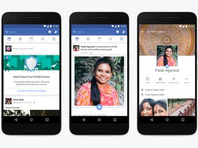 Facebook añade protección para las fotos de perfil, en India por ahora