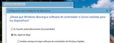 Cómo evitar que Windows 10 instale actualizaciones de drivers automáticamente