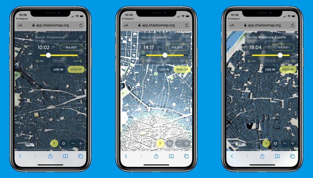 Shadowmaps es el Google Maps que necesitamos en verano para dar paseos por la sombra y evitar el sol: así funciona esta genial app
