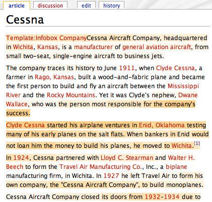 Calculando la confianza de cada parte de la Wikipedia