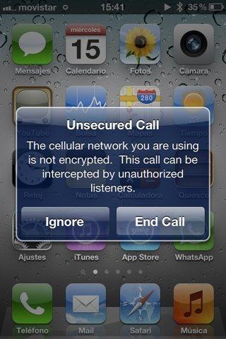 iOS 5 incorpora alertas de llamadas no seguras