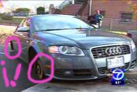 Audi S4 sin ruedas versus grúa