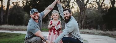 """""""No somos una pareja homosexual, pero compartimos una hija"""", las bellas fotografías de una niña con su padre y su padrastro"""