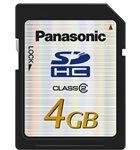 Tarjeta SDHC Panasonic de hasta 4GB
