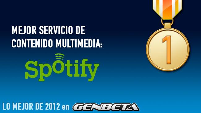 Spotify: mejor servicio de contenido multimedia de 2012