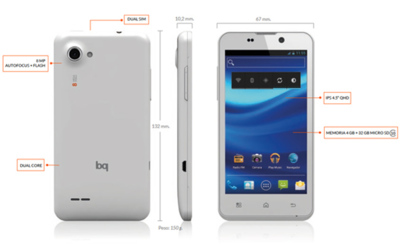 bq Aquaris, un Smartphone español con Dual SIM