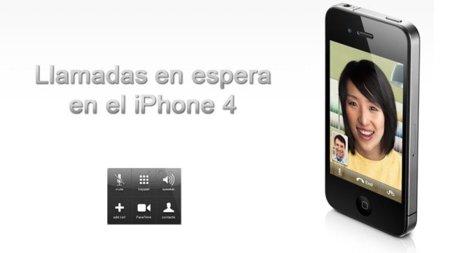 Cómo poner una llamada en espera en el iPhone 4