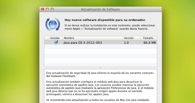 Actualización de Java para OS X