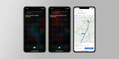 Google Maps Siri