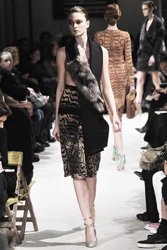 Miu Miu, Otoño-Invierno 2009/2010 en la Semana de la Moda de París, piel