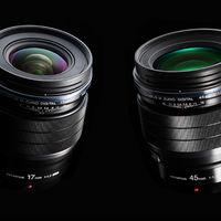 Olympus presenta dos nuevos objetivos M.Zuiko con abertura F1.2 de la serie PRO: 17 mm y 45 mm