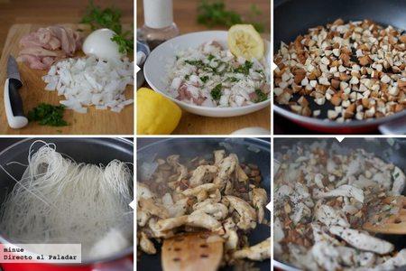 Pollo con almendras - elaboración
