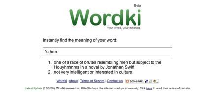 Wordki, busca el significado de una palabra al momento