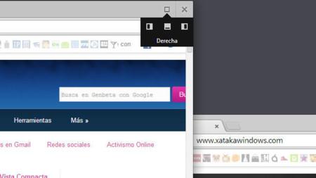 Chrome 32 en Windows 8, controles de posición de ventanas