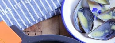 Mejillones con crema y apio. Receta