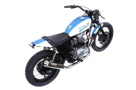The Blue & White W650 Street Tracker