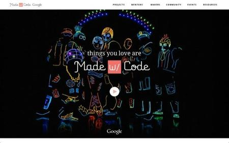 Made with code (hecho con código) es una iniciativa para inspirar a las mujeres en el uso de la programación