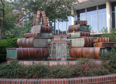 Porque el saber no ocupa lugar, monumentos y fuentes dedicados a la palabra escrita