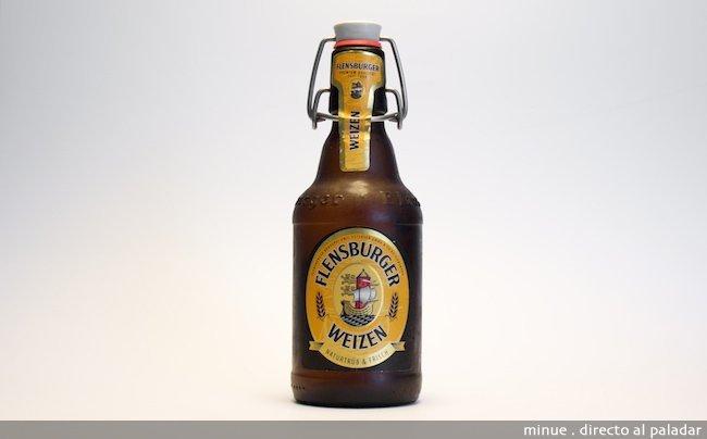 cata cerveza - flensburger weizen - botella