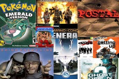 Top 10 de juegos 'baneados'