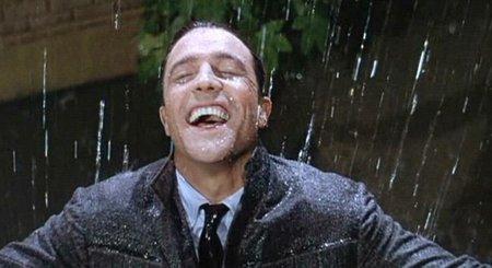 'Cantando bajo la lluvia', filmando la alegría