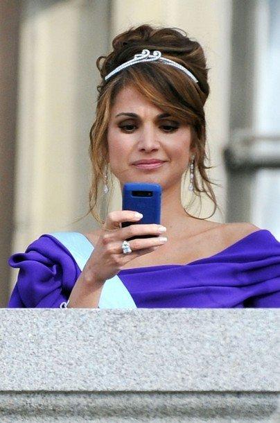 Boda de la Princesa Victoria de Suecia, ceremonia: Princesa Rania I