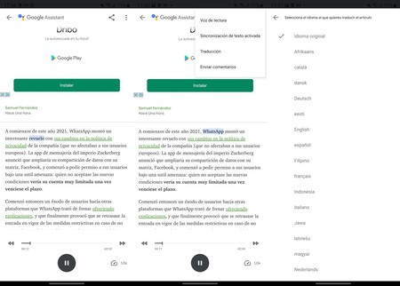 Google Assistant Lectura