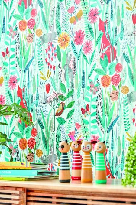 Papel pintado de flores Harlequin