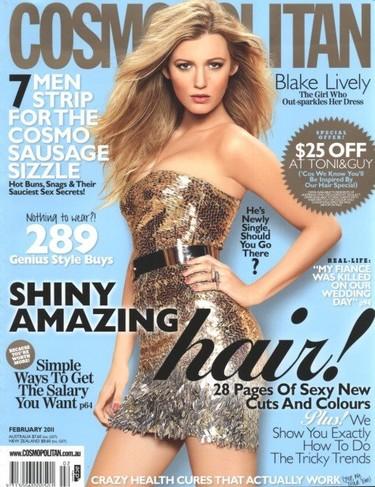 La extraña portada de Blake Lively en Cosmopolitan