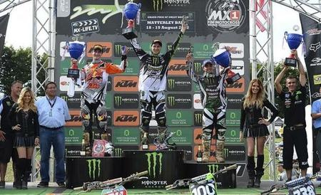 Podium MX2 GP GB