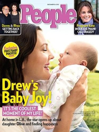 ¡Qué ricura! La hija de Drew Barrymore ya acapara la portada de People