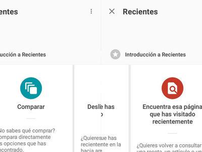 Revisa lo que has buscado últimamente con la nueva ventana Recientes de la aplicación de Google