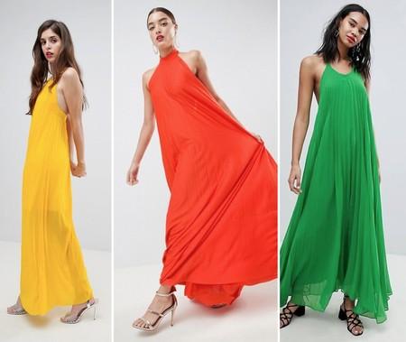 Vestidos Halter Color Asos