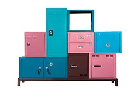 Almacenaje con color en dormitorios infantiles